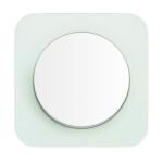 R1 Выключатель 1- клавишный, рамка стекло полярная белизна, клавиша полярная белизна, глянец
