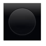 R3 - Выключатель 1-клавишный, рамка и клавиша черная, глянец