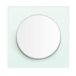 R3 - Выключатель 1- клавишный, рамка стекло полярная белизна, клавиша полярная белизна, глянец