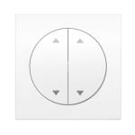 R3 - Жалюзийная кнопка, 2-полюсный. Рамка полярная белизна, глянец